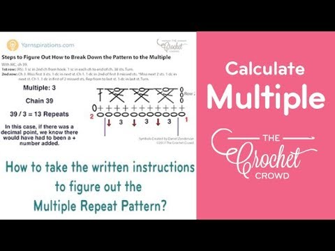 Crochet: How to Figure out Multiples Stitch Repeats
