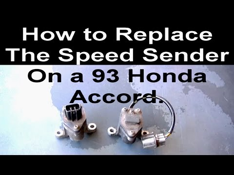 How to Change the Vehicle Speed Sensor on a Honda Accord