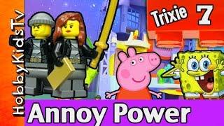 getlinkyoutube.com-Time Wap Trixie Episode 7 Batman Imaginext Spongebob Peppa Pig Monsters Inc by HobbyKidsTV