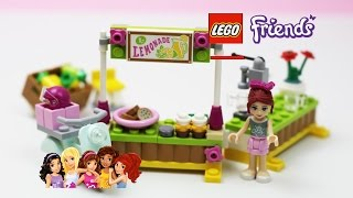 getlinkyoutube.com-✿ LEGO Friends (41027) Mia's Lemonade Stand Playset Unpacking Building ✿