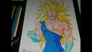 getlinkyoutube.com-Majin Vegeta goes SSJ3 in a Fight! [Dragon Ball Z) Speed Drawing - TolgArt