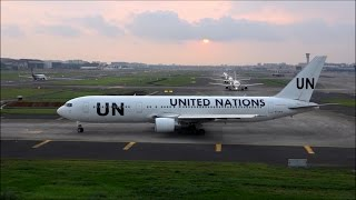 getlinkyoutube.com-Rare Spectacular Take Off By United Nations Boeing 767-300ER Making Deafening Sounds At Mumbai