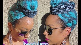 getlinkyoutube.com-Easy HEAD WRAP Scarf Turban Style Tutorial
