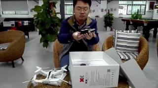 getlinkyoutube.com-XK X300 6-axis Gyro Optical Flow Positioning Air Press Altitude Hold RC Quadcopter