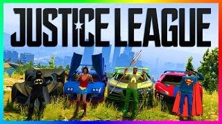 GTA ONLINE JUSTICE LEAGUE SUPERHEROS - BATMAN VS SUPERMAN, THE FLASH, WONDER WOMAN & MORE! (GTA 5)