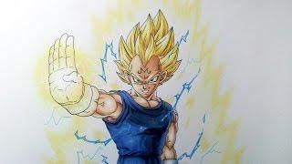getlinkyoutube.com-Drawing Majin Vegeta Super Saiyan 2