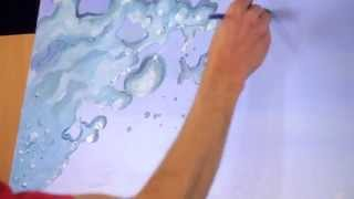 getlinkyoutube.com-How to paint splashing water drops & bubbles - Mural Joe