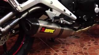 getlinkyoutube.com-ER-6n 2012 Akrapovic Exhaust Full System 2012 no silencer