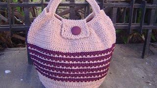 getlinkyoutube.com-Como tejer bolso en crochet paso a paso tutorial parte 1