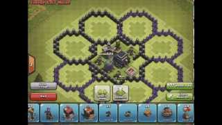 getlinkyoutube.com-Clash of Clans - Th8 Trophy Base (Flower)