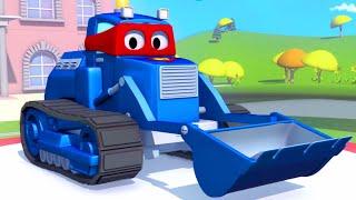 getlinkyoutube.com-Carl the Super Truck and the Bulldozer in Car City | Trucks cartoons for kids 🚚