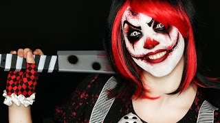 getlinkyoutube.com-Killer Clown Makeup Tutorial | Easy Scary Clown | 31 Days of Halloween