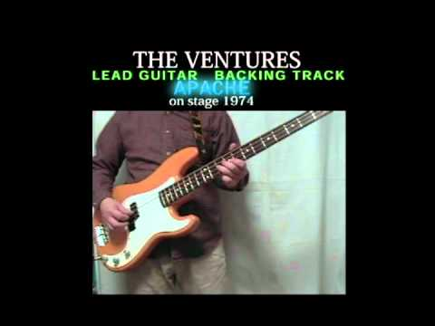 APACHE  The Ventures Lead Guitar Backing Track 5/20 (with Bob Bass cover)