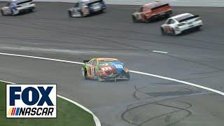 Kyle Busch and Joey Logano Crash NASCAR at Kansas 2013