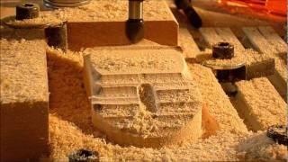 getlinkyoutube.com-Wood Mouse on my DIY CNC