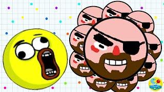 Agario Mobile Trolling And Sad Ending Premium Pirate Skin (Agar.io Funny Moments)