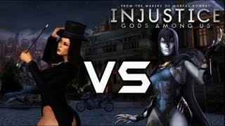 getlinkyoutube.com-Injustice Gods Among Us - Zatanna VS Raven with Lore & Skins