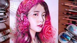 getlinkyoutube.com-IU (Lee Ji-eun) - Colored pencil drawing | drawholic