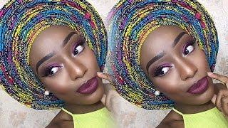 getlinkyoutube.com-Infinity Pleats! Ankara Gele Tutorial | Christiana's Closet