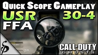 getlinkyoutube.com-Call of Duty Ghosts USR Gameplay [30-4 FFA] Quick Scoping Commentary - I Love This Game...