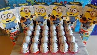 getlinkyoutube.com-2015 Minions Movie 24 Kinder Surprise Eggs + Vampire & Pirate Toys Huevos Sorpresa