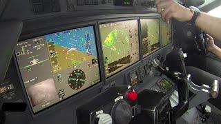 getlinkyoutube.com-Gulfstream G550 cockpit, landing time-lapse.