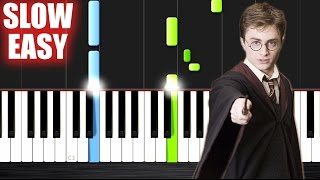 Harry Potter Theme (Hedwig's Theme) - SLOW EASY Piano Tutorial by PlutaX