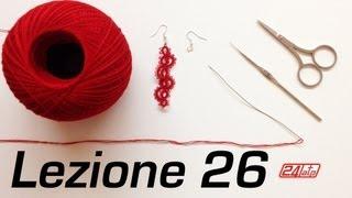 getlinkyoutube.com-Chiacchierino Ad Ago - 26˚ Lezione Orecchino Pendente Bijoux - Tutorial Tatting Needle Lessons