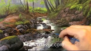 getlinkyoutube.com-Painting Water, River in a Landscape
