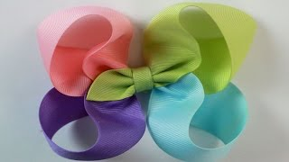 getlinkyoutube.com-How to: Easy bow tutorial 4 color Twisted Boutique hairbow