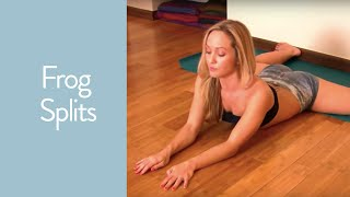 getlinkyoutube.com-Yoga Frog Splits to Deepen your Straddle on the Wall with Kino
