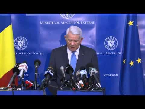 Declaraţie de presă a ministrului afacerilor externe, Teodor Meleşcanu