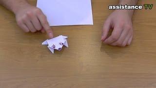 getlinkyoutube.com-Прыгающая лягушка из бумаги / Оригами из бумаги