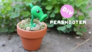getlinkyoutube.com-Plants vs Zombies Peashooter Polymer Clay Tutorial