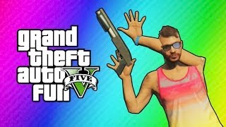 getlinkyoutube.com-GTA 5 Online Funny Moments - Imaginary Posters & Animation Glitch! (Action Freeze Glitch)