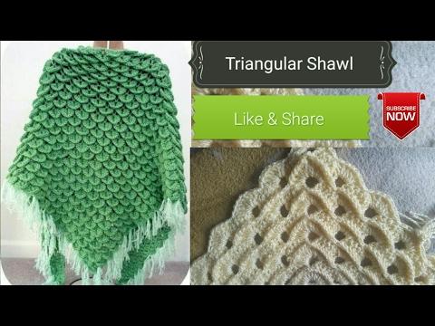 Crochet  Design #01# (HINDI) - How to Crochet triangle shawl !! (Poncho)
