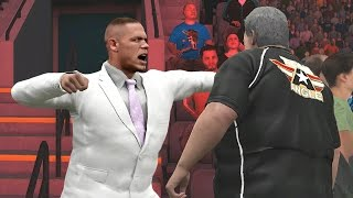 getlinkyoutube.com-WWE 2K17 Story - John Cena Attacks The Fans