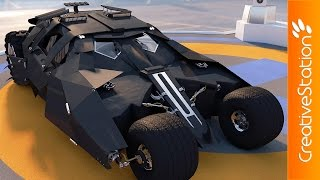 getlinkyoutube.com-Batman Car  - 3D Speed art modelling (#Cinema4D) | CreativeStation