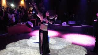getlinkyoutube.com-Shahara Belly Dancer Snake Charmer - Guanabara London Night Club