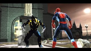 getlinkyoutube.com-Symbiote Wolverine - Spider-Man Web of Shadows Boss Battles (All Upgrades) Red Suit