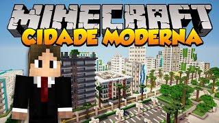 getlinkyoutube.com-Minecraft Mapas: Incrível Cidade Moderna! (Greenfield)