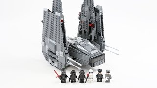 getlinkyoutube.com-LEGO Star Wars Kylo Ren's Command Shuttle (Timelapse & Review) - Set 75104