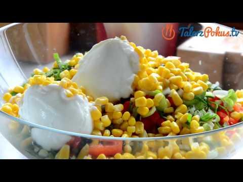 Sałatka z młodych ziemniaków, papryki i kukurydzy