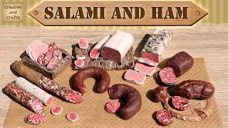 getlinkyoutube.com-Полимерная глина - КОЛБАСА салями и ветчина / Polymer clay salami and ham / Светлана Няшина