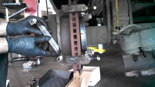 getlinkyoutube.com-Rear brake pad replacement Ford F350 2005-2007 F250  Caliper Install Remove Replace How to