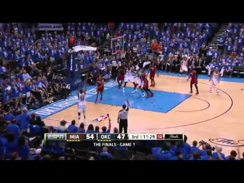 Oklahoma City Thunder vs Miami Heat - June 12 2012 NBA Finals Game 1