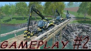 getlinkyoutube.com-Farming Simulator 15 Multiplayer - Gameplay #2 Wood cutting