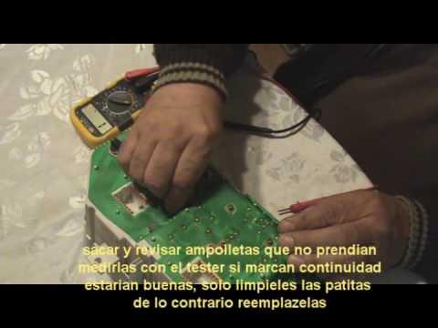 Hunday santamo panel instrumentos desmontar reparar