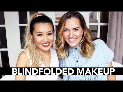 Blindfolded Makeup Challenge w/Ashley Waxman Bakshi || Sylvia Jade