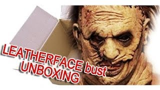 getlinkyoutube.com-Leatherface Headskinner Revisited limited edition bust UNBOXING